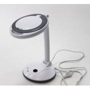 Збільшувальна настільна лампа-лупа 2028F LED — 3+12 діоптрій
