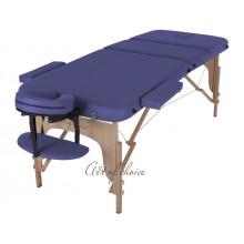 Массажная кушетка складная буковая DEN Comfort (беж, фиолетовый, синий)