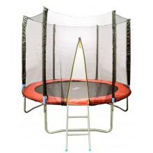 Батут HouseFit HSF 8FT с сеткой и лестницей